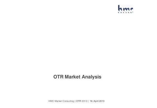 HMC Market Consulting | OTR 2013 | 16. April 2013 OTR Market Analysis