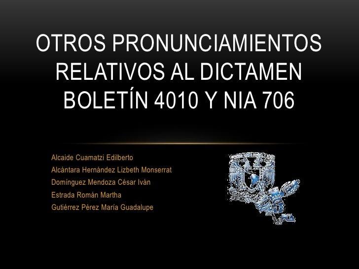Alcaide Cuamatzi Edilberto <br />Alcántara Hernández Lizbeth Monserrat<br />Domínguez Mendoza César Iván<br />Estrada Romá...
