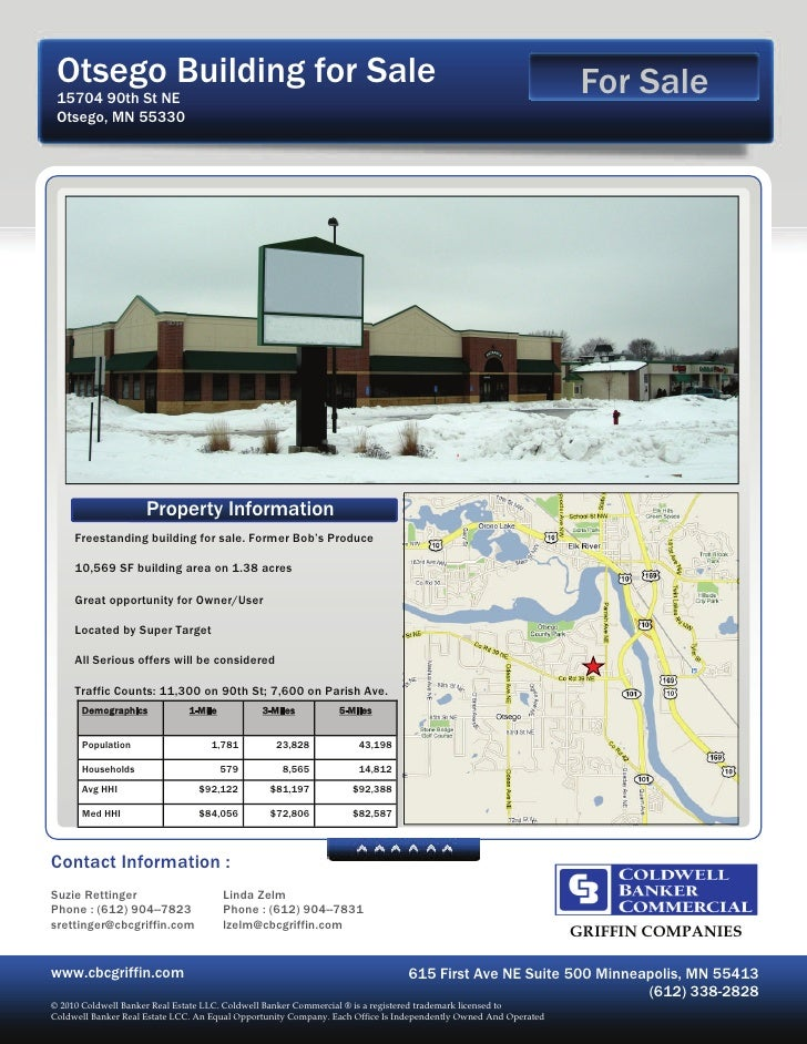 Otsego Building for Sale                                                                                         For Sale ...