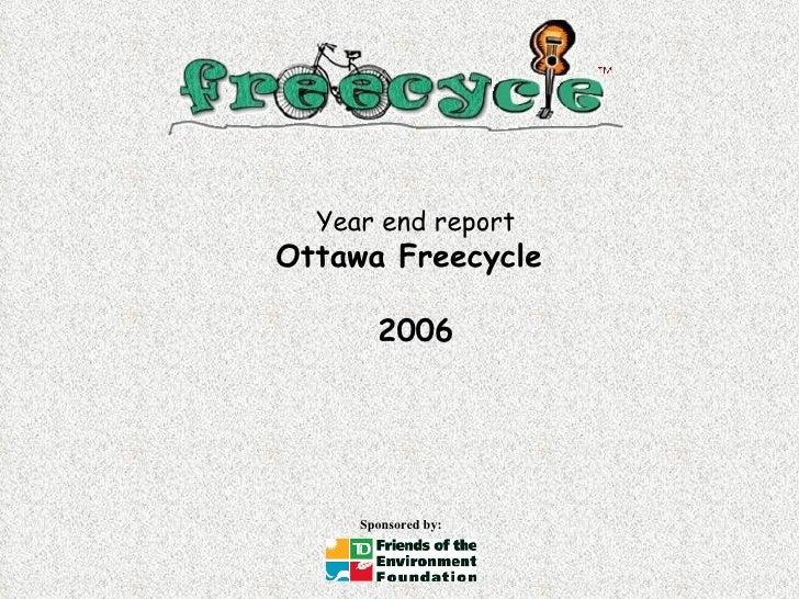 Year end report Ottawa Freecycle  2006