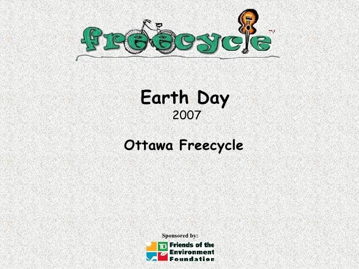 Earth Day   2007 Ottawa Freecycle