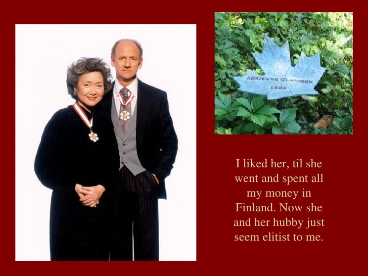 I liked her, til she went and spent all my money in Finland. Now she and her hubby just seem elitist to me.