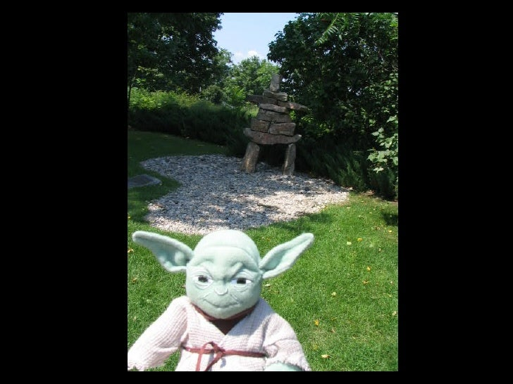 Yoda strikes a pose.