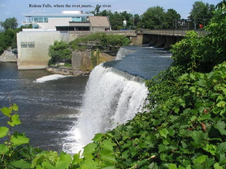 Rideau Falls, where the river meets... the river.