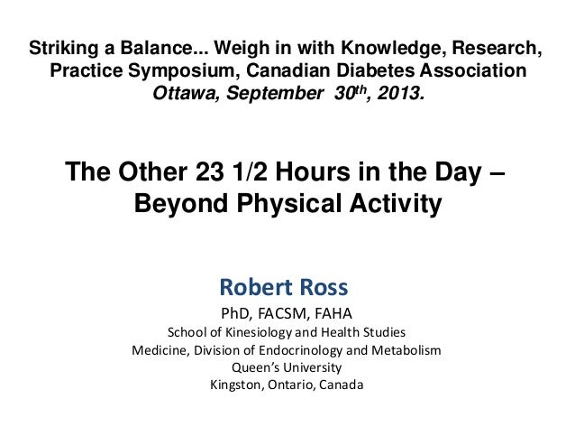 Striking a Balance... Weigh in with Knowledge, Research, Practice Symposium, Canadian Diabetes Association Ottawa, Septemb...