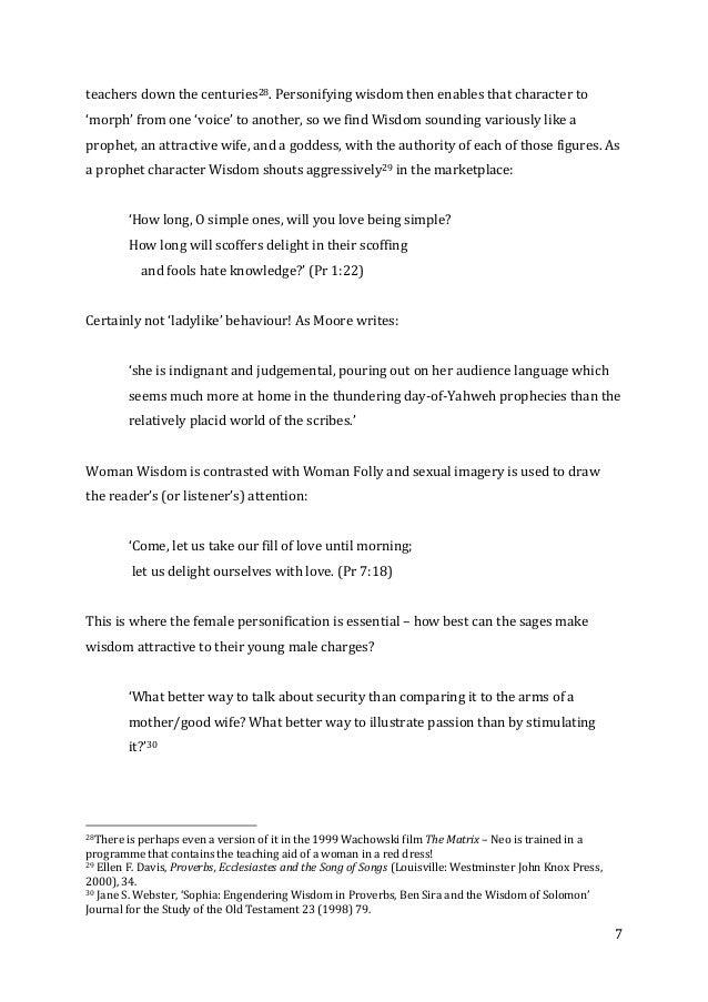 An old custom essay