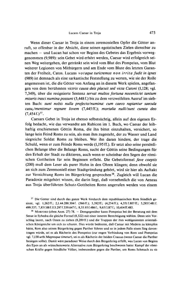 Lucans Caesar in Troja                                       473    Wenn dieser Caesar in Troja in einem zeremoniellen Opf...