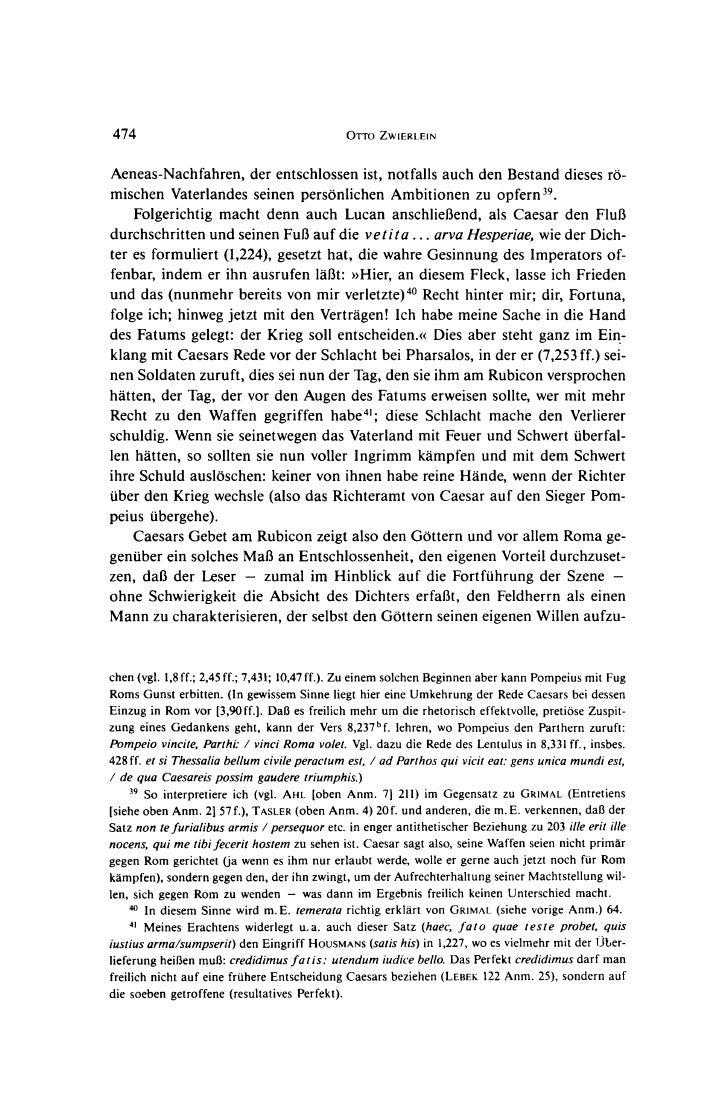 474                                            OrrO ZWIERLEINAeneas-Nachfahren, der entschlossen ist, notfalls auch den Be...
