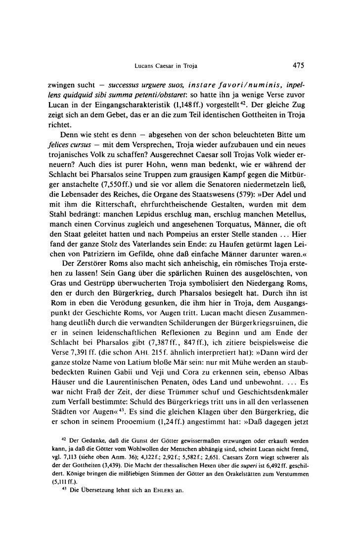 Lucans Caesar in Troja                                       475zwingensucht - successusurguere                           ...