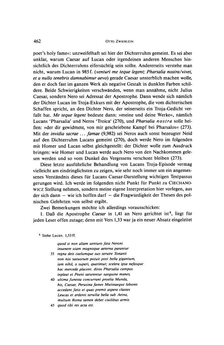462                                       OTTO ZWIERLEINpoets holy fame<: unzweifelhaft sei hier der Dichterruhm gemeint. ...