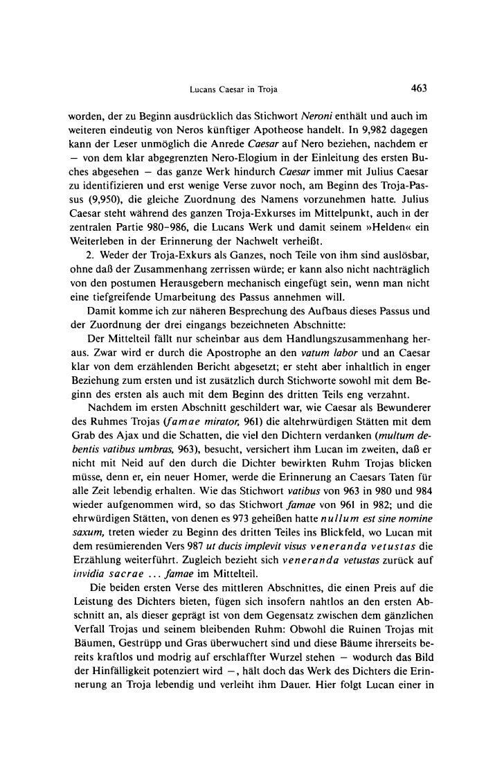 Lucans Caesar in Troja                           463worden, der zu Beginn ausdrucklich das Stichwort Neroni enthalt und au...