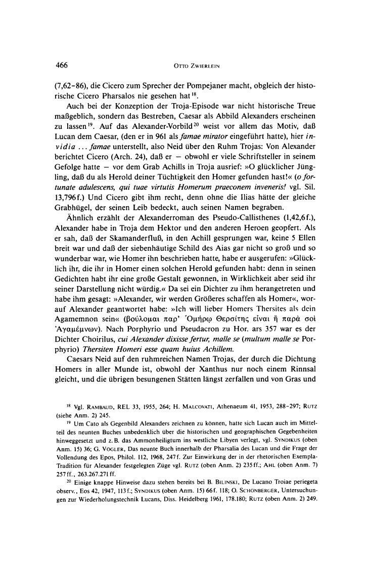 466                                       OrrO ZWIERLEIN(7,62-86), die Cicero zum Sprecher der Pompejaner macht, obgleich ...