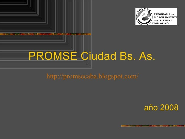 PROMSE Ciudad Bs. As. año 2008 http://promsecaba.blogspot.com/