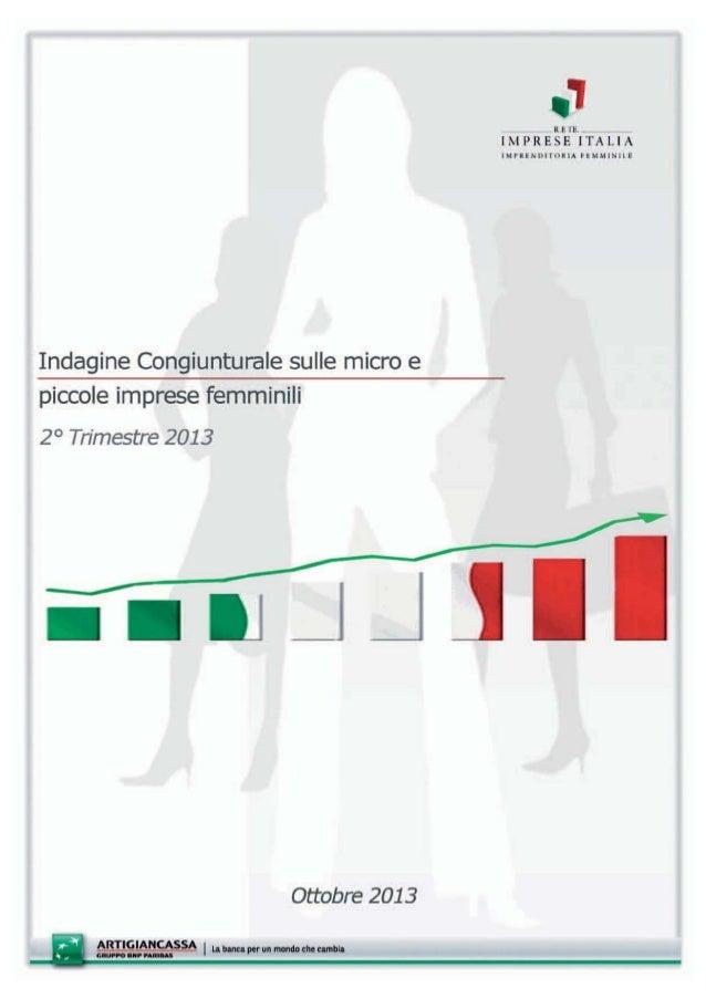 Indagine Congiunturale sulle micro e piccole imprese femminili  INDICE  Principali evidenze ……………………………………………….…………………. 5 ...