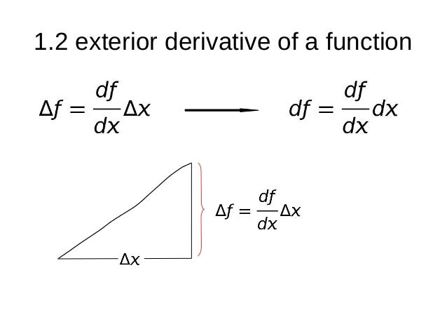 1.2 Exterior Derivative Of A Function ...