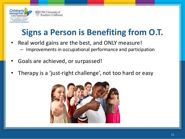 occupational therapy people with intellectual What is occupational therapy, and how is it helpful to people with autism this overview article covers the basics.