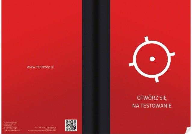 Otwórz się na testowanie - folder reklamowy szkoleń i konsultacji testerzy.pl 2012 / 2103