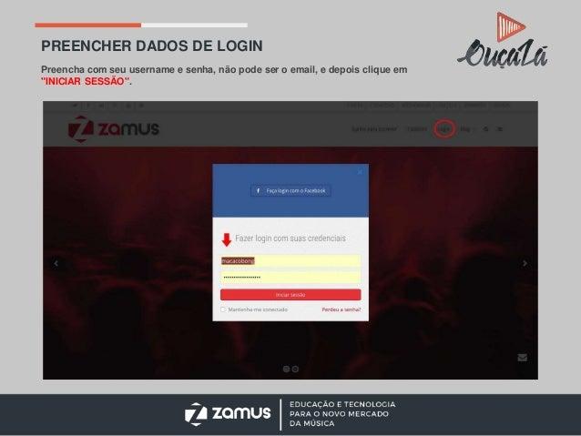 """ACESSAR A OUÇA LÁ Todas as plataformas da Rede Zamus são acessíveis pelo menu no topo superior. Clicar em """"OUÇA LÁ""""."""