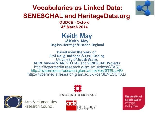 Keith May @Keith_May English Heritage/Historic England Based upon the work of Prof Doug Tudhope & Ceri Binding University ...