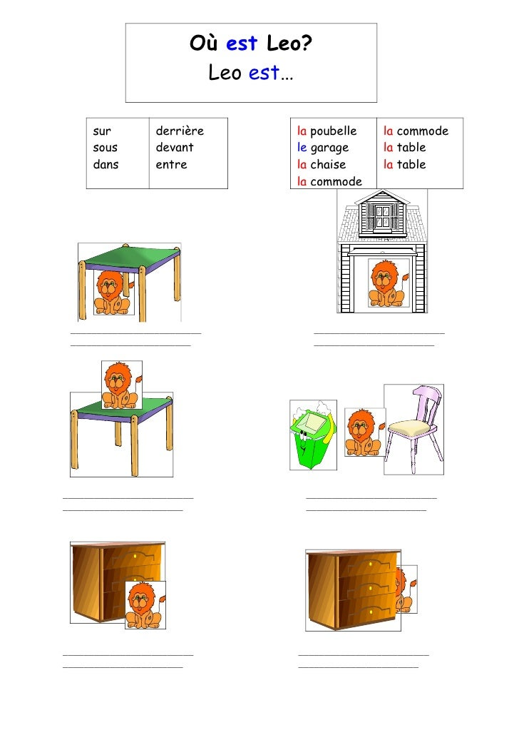 french o est leo worksheet. Black Bedroom Furniture Sets. Home Design Ideas