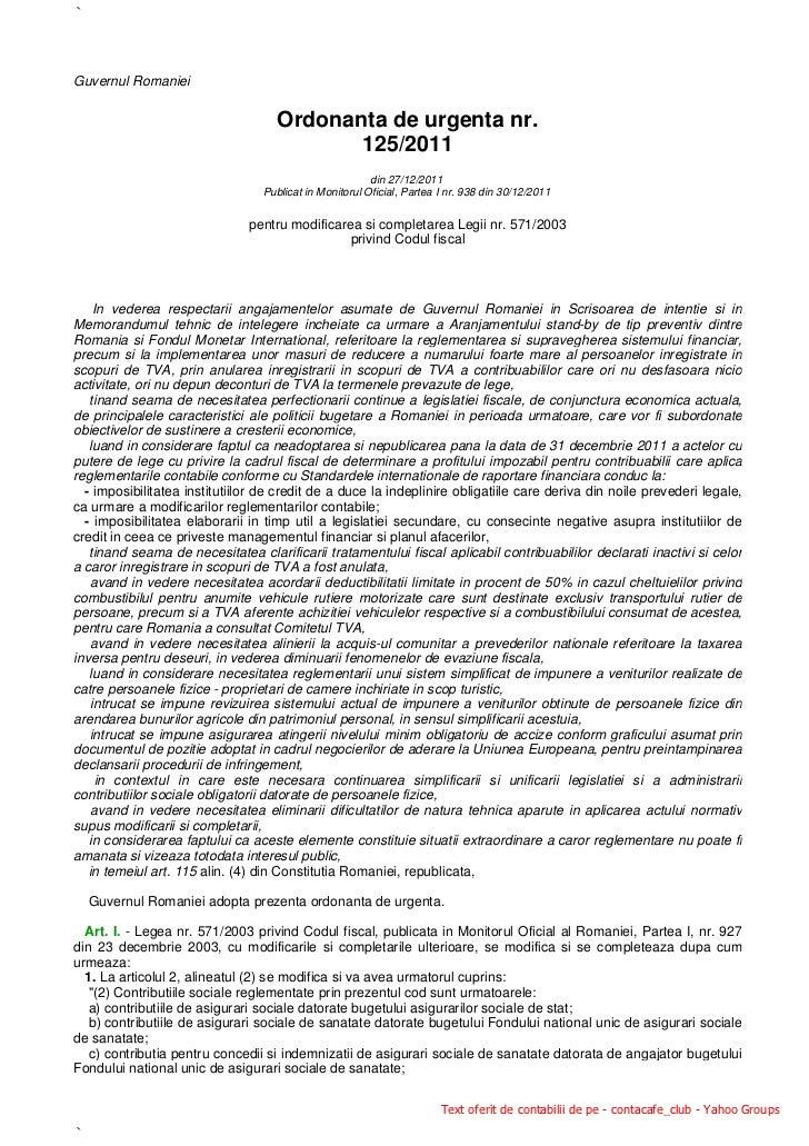 `Guvernul Romaniei                                    Ordonanta de urgenta nr.                                           1...