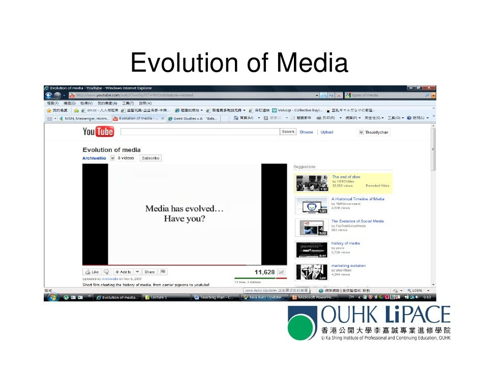 OUHK COMM6024 lecture 2 - types of media Slide 3