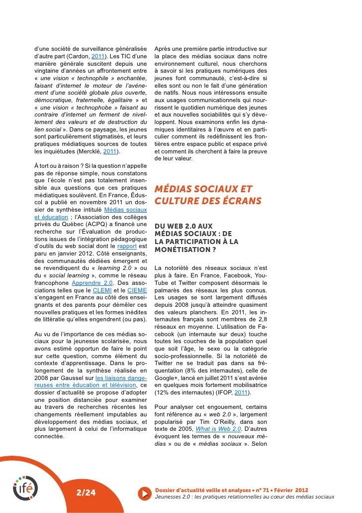 d'une société de surveillance généralisée       Après une première partie introductive surd'autre part (Cardon, 2011). Les...