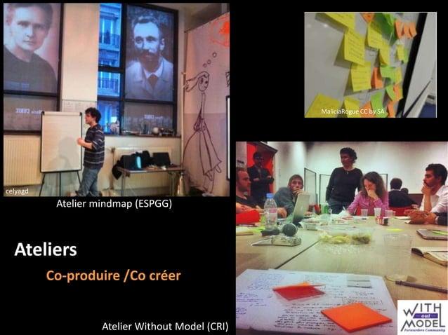 MaliciaRogue CC by SA  celyagd  Atelier mindmap (ESPGG)  Ateliers Co-produire /Co créer  Atelier Without Model (CRI)