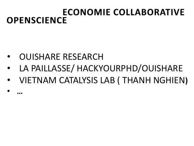OuiSharecoffee #3 Economie Collaborative et OpenScience : Inspirations mutuelles