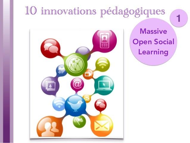 10 Innovations pédagogiques mises en perspective pour les MOOCs Slide 3
