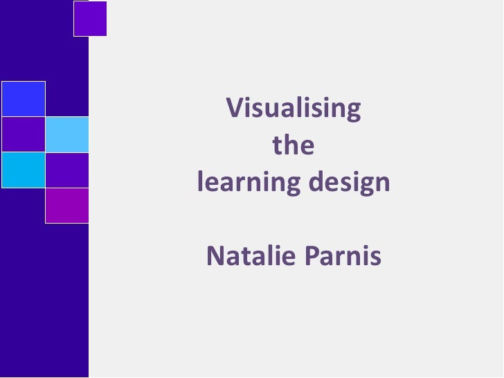 Visualising the  learning designNatalie Parnis <br />