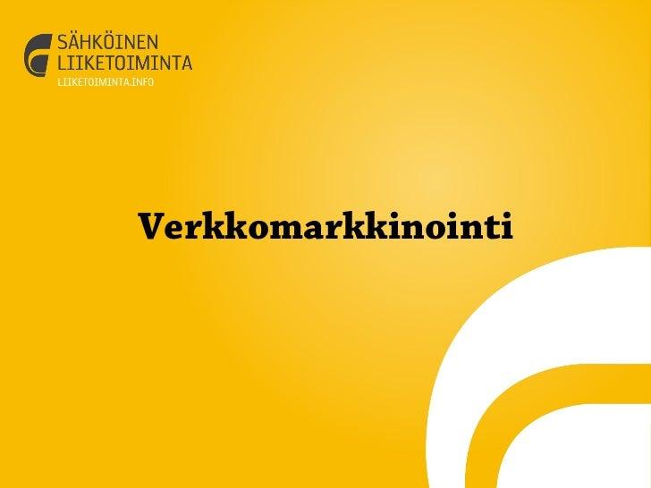 VerkkomarkkinointiSähköinen Liiketoiminta Suomi Oy