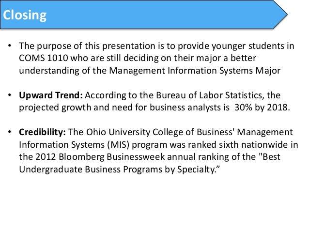 Ohio University: Management Information Systems Major