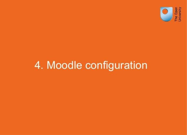 4. Moodle configuration