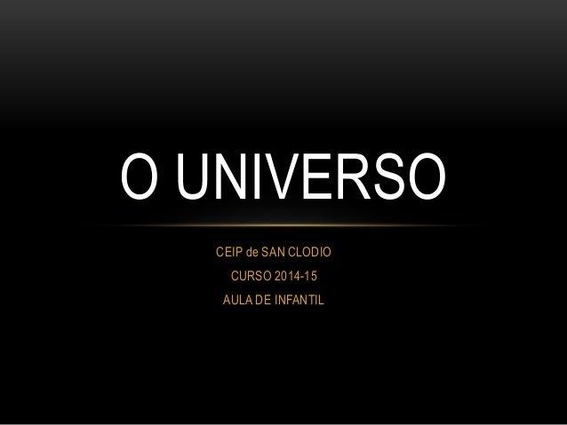 CEIP de SAN CLODIO CURSO 2014-15 AULA DE INFANTIL O UNIVERSO