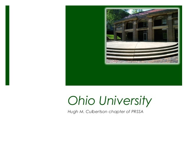 Ohio University Hugh M. Culbertson chapter of PRSSA
