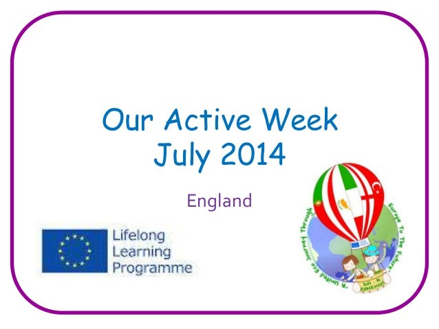 Our Active Week  July 2014  England