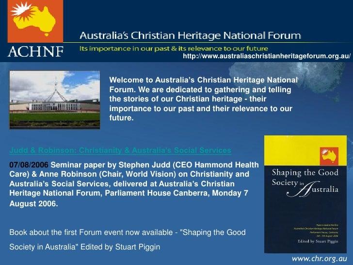 Our Australian Christian Heritage Printable