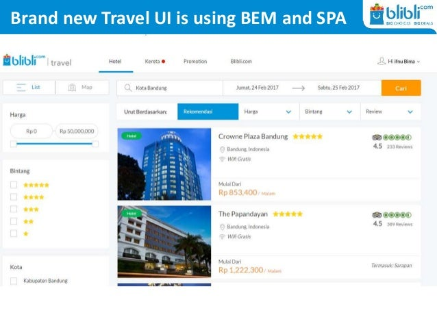 Brand new Travel UI is using BEM and SPA
