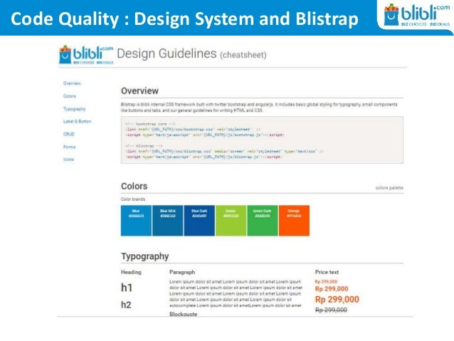 Code Quality : Design System and Blistrap