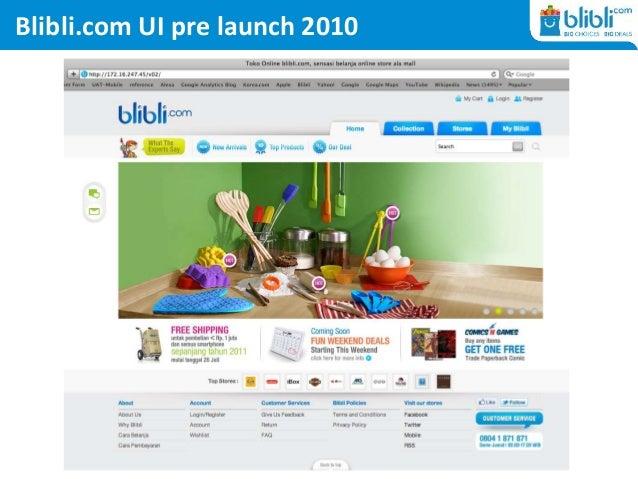 Blibli.com UI pre launch 2010