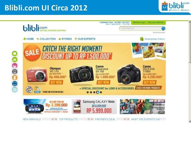 Blibli.com UI Circa 2012