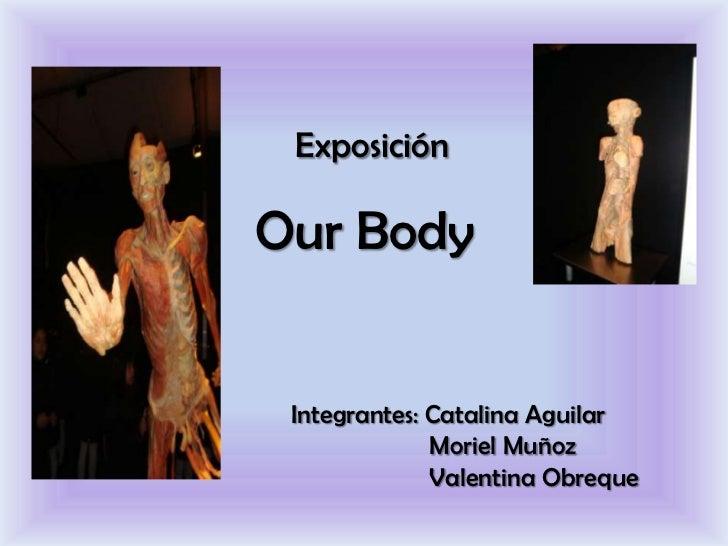 ExposiciónOur Body Integrantes: Catalina Aguilar              Moriel Muñoz              Valentina Obreque