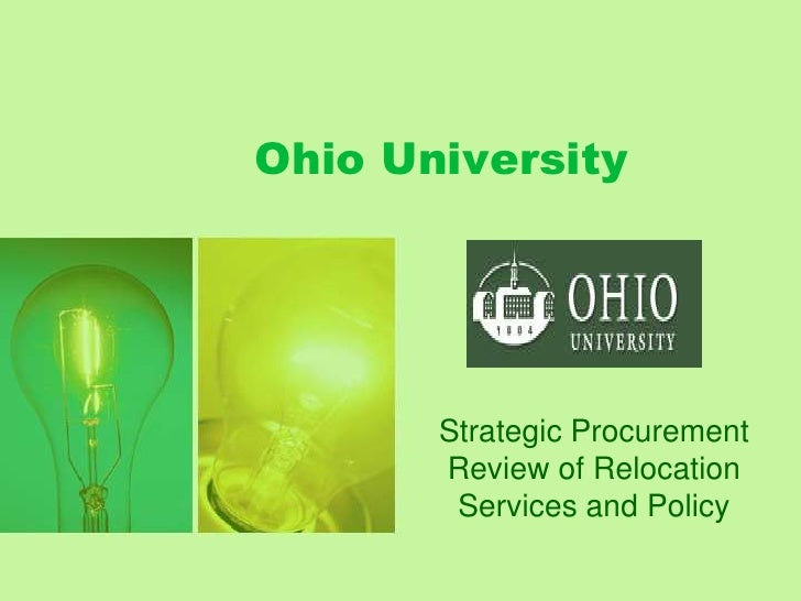 Ohio University<br />Strategic Procurement Review of Relocation Services and Policy<br />