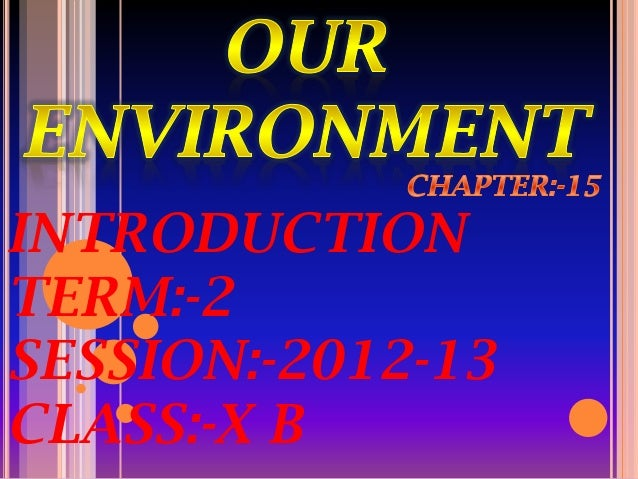 INTRODUCTION TERM:-2 SESSION:-2012-13 CLASS:-X B