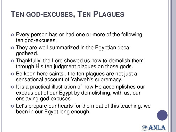 Our exodus out of Egypt
