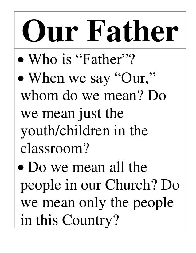 our father prayer explanation