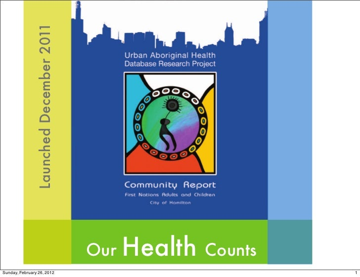 Launched December 2011                                        Our   Health   CountsSunday, February 26, 2012              ...