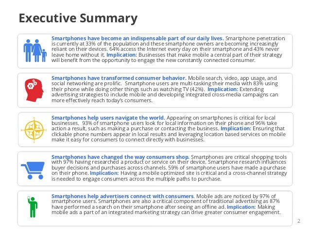Executive Summary    Smartphones have become an indispensable part of our daily lives. Smartphone penetration    is curren...