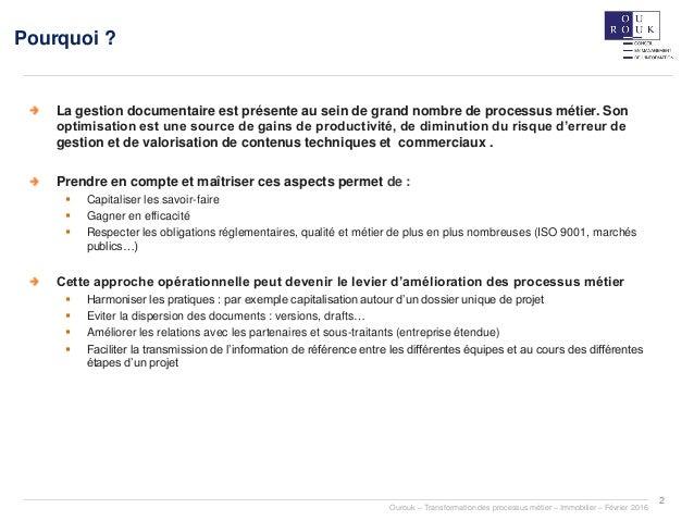 La dématérialisation des processus métiers Slide 2